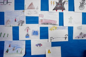 Drawings in a Classroom